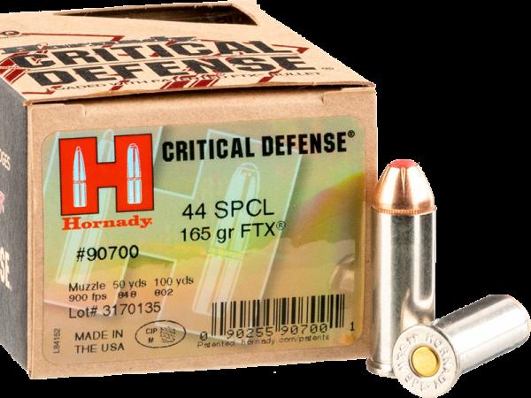 Hornady Critical Defense .44 S&W Special FTX 165 grs Revolverpatronen