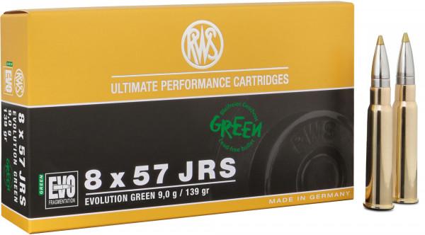 RWS Evolution Green 8 x 57 IRS 9,00g - 139grs HP Büchsenmunition