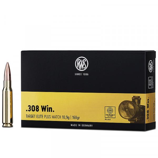 RWS Target Elite Plus .308 Win 10,89g - 168grs BTHP Büchsenmunition