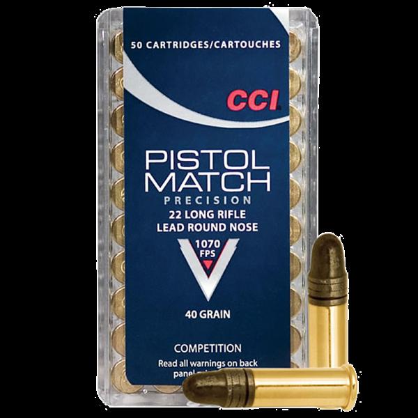CCI Pistol Match .22 LR LRN 40 grs Kleinkaliberpatronen
