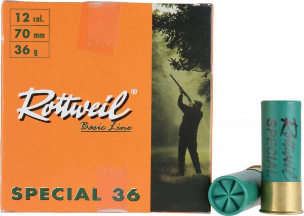 Rottweil 12/70 36g 2,5mm Special 36 Jagdschrot Schrotpatronen