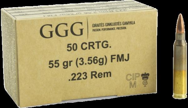 GGG Standard .223 Rem FMJ 55 grs Büchsenpatronen