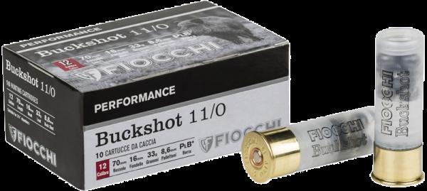 Fiocchi Buckshot 11/0 12/70 33 gr Schrotpatronen