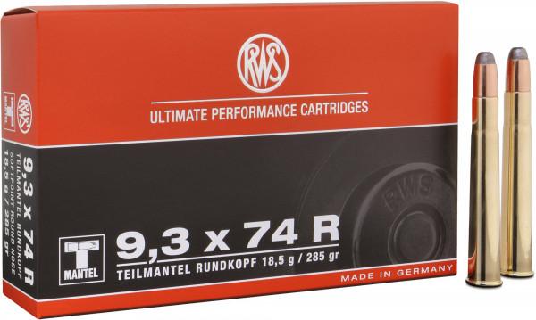 RWS Teilmantel 9,3 x 74 R 18,47g - 285grs SP Büchsenmunition
