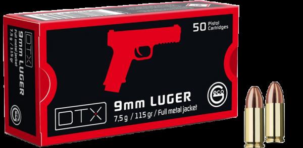 Geco DTX 9mm Luger (9x19) Geco DTX 115 grs Pistolenpatronen