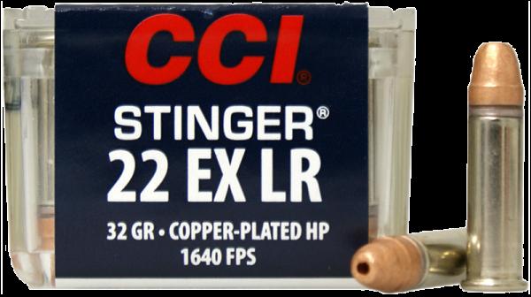 CCI Stinger Rifle .22 EX LR CPHP 32 grs Kleinkaliberpatronen