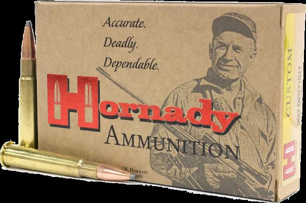 Hornady Custom .303 British InterLock 150 grs BŸchsenpatronen