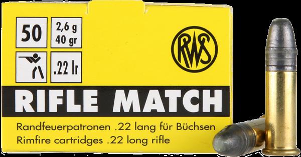 RWS Rifle Match .22 LR LRN 40 grs Kleinkaliberpatronen