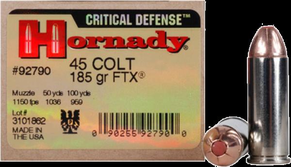 Hornady Critical Defense .45 Colt FTX 185 grs Revolverpatronen