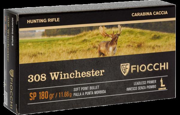 Fiocchi Hunting .308 Win SP 180 grs Büchsenpatronen