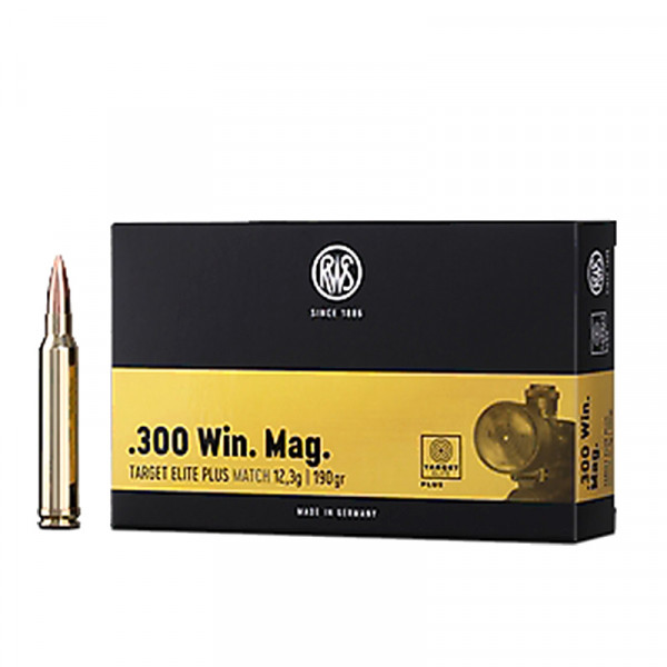RWS Target Elite Plus .308 Win 12,31g - 190grs BTHP Büchsenmunition