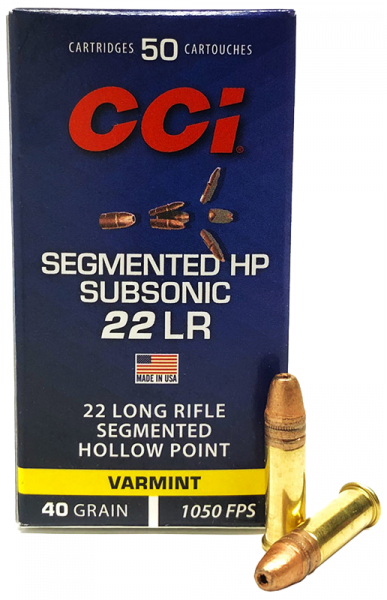 CCI Segmented HP .22 LR HP 40 grs Kleinkaliberpatronen